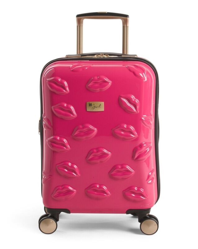 "IT Luggage SMOOCH Hardside Spinner Carry-On Luggage 21"" NWT"