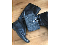 C Faith black boots can be worn long or short size 7