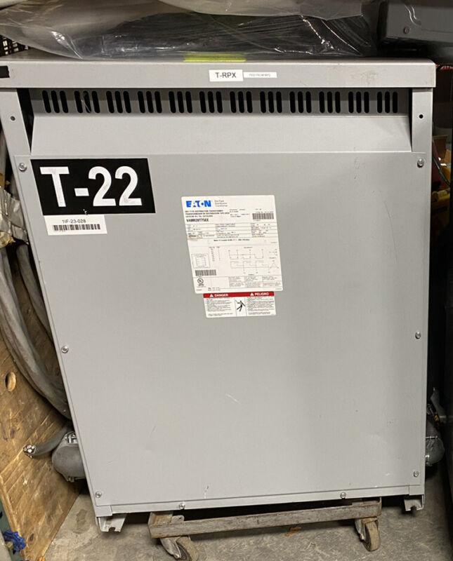 75kva Eaton N48M28T75EE Dry Type Distribution Transformer 480V 208Y/120 Freight