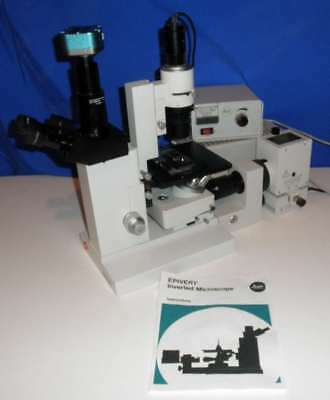 Leitz Diavert Epivert Inverted Fluorescence Phase Microscope