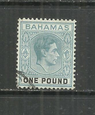 (W318) Bahamas – George 6th 1938 £1 Used