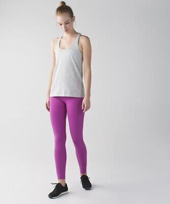 WOMENS LULULEMON ZONE IN TIGHT SIZE 2 IN ULTRAVIOLET EXCELLENT CLEAN CONDITION!