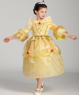 Princess Belle Tangle Costume Dress , Girls Halloween Costume for 2 - 10 Years](Halloween 10 Days)