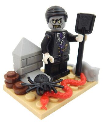 LEGO ZOMBIE FUNERAL DIRECTOR MINIFIG halloween undertaker monster grave - Undertaker Halloween