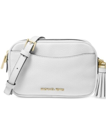 Michael Kors Cross Body Camera Bag Leather Optic White K2
