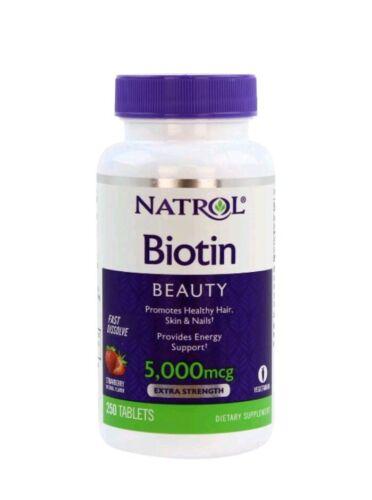 biotin 5000 mcg 250 tablets fast dissolve