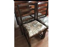 4 x Wooden chairs FOR FREE