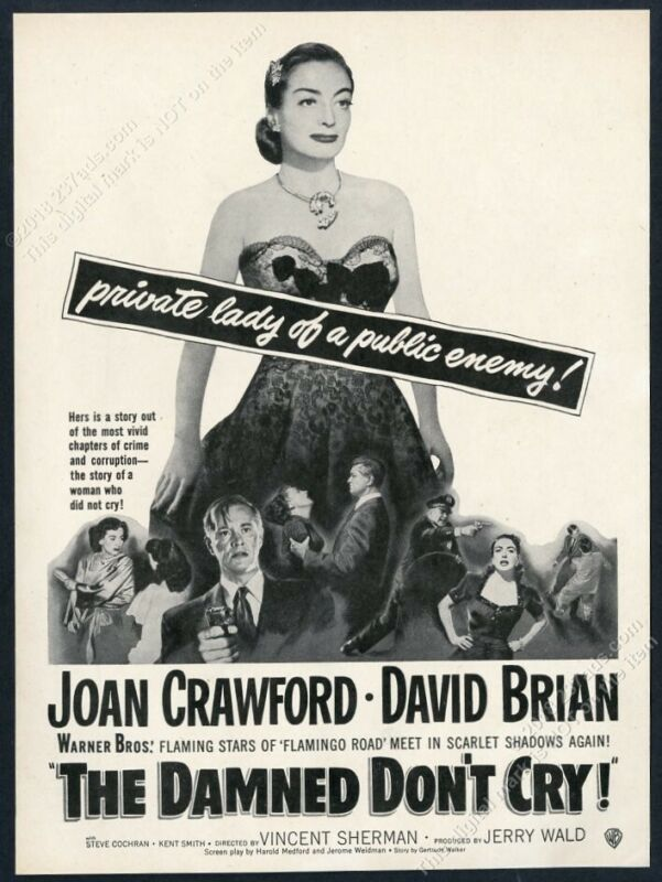1950 Joan Crawford photo The Damned Don