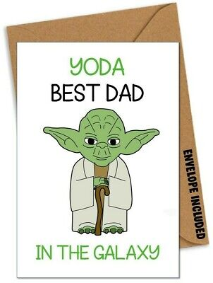 Yoda Star Wars Funny Fathers Day Card for Dad Step Dad Daddy Love you I do AN
