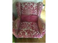 Dfs pink/cream chair