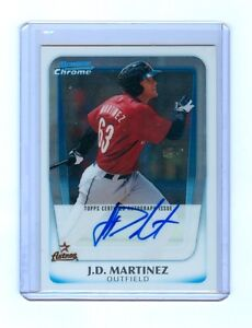 2011 Bowman Chrome Prospects Auto BCP92 J D Martinez ASTROS RC