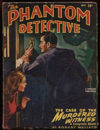Phantom Detective 1947 September.    Pulp.