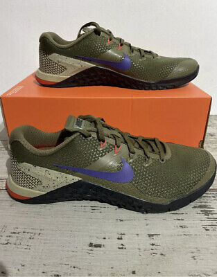 NIKE METCON 4 AH7453 342 OLIVE CANVAS Trainers Shoes UK 9.5 EUR 44.5