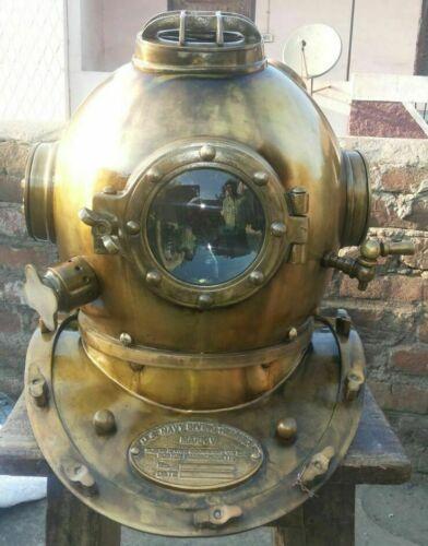 Antique Diving Divers Helmet US Navy Mark V Deep Sea Marine Scuba Divers Helmet