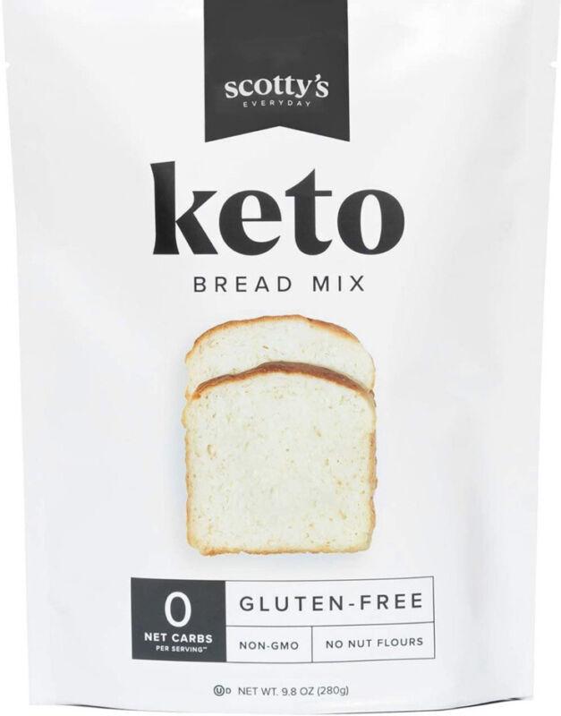 Keto Bread Zero Carb Mix - Keto and Gluten Free Bread Baking Mix - 0g Net Carbs