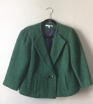 Green Cabi Jacket Blazer Casual Work Size 8 Style 532 Wool Blend for sale  Waldorf