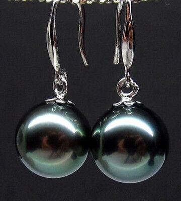 beautiful big 16 mm black southsea shell pearl earring best match (Best Mother Of Pearl Earrings)