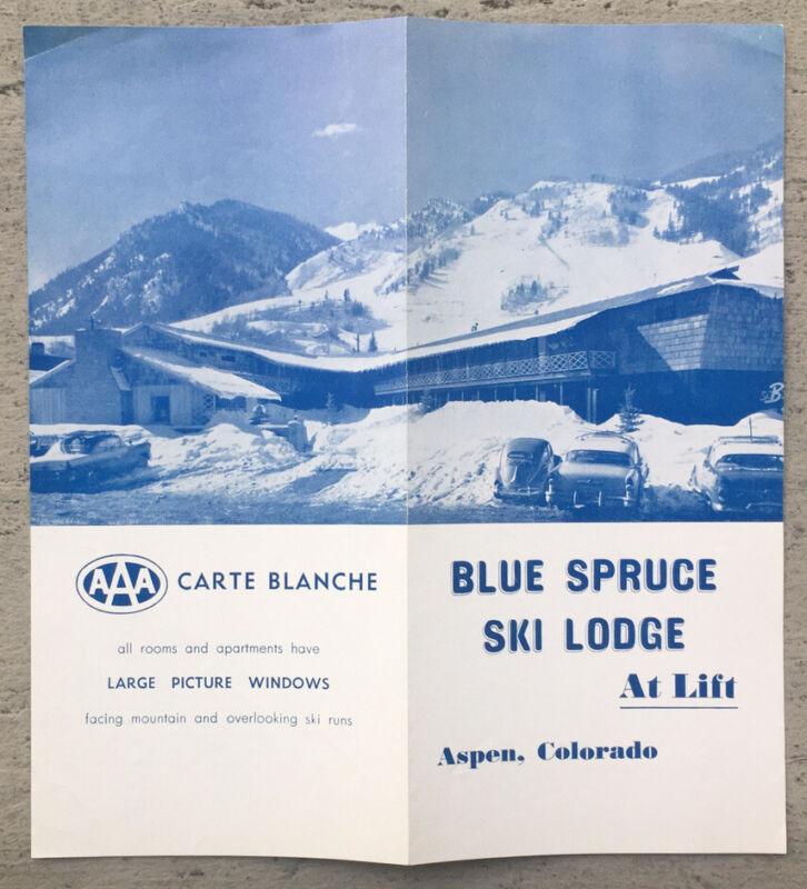 ca.1958 Aspen, Colorado BLUE SPRUCE SKI LODGE Travel Resort Advertising Brochure