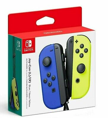 NINTENDO SWITCH JOY-CON CONTROLLERS PAIR BLUE & NEON YELLOW BRAND NEW IN BOX