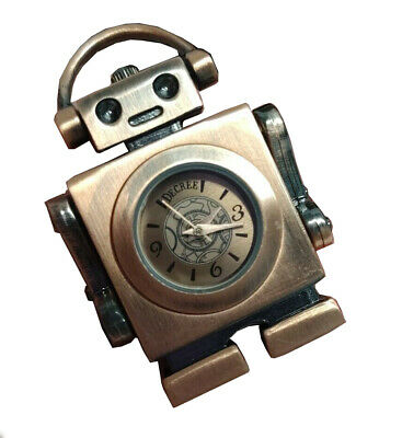 Decree Adorable Pendant Retro Robot Watch Copper Bronze Color (Copper Bronze Color)