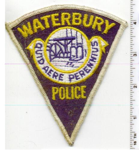 Waterbury Police (Connecticut) Uniform Take-Off Shoulder Patch - early 1980