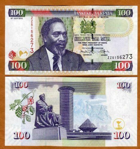 Kenya, 100 shillings, 2010, P-48e, UNC > ZZ- REPLACEMENT