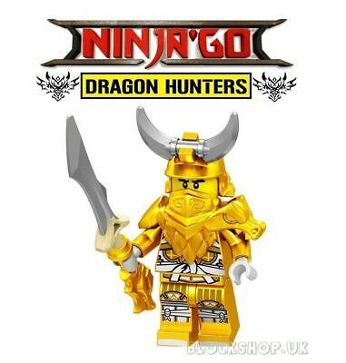 NINJAGO RARE - LEGENDARY DRAGON MASTER WU - fits lego figure (D6)