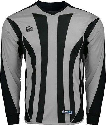 Admiral Bayern ADULT Padded Elbow Soccer Goalie Jersey, Silver / Black Black Goalie Jersey