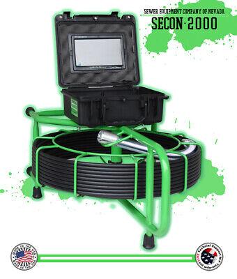 100 Usa Made Sewer Video Drain Inspection Camera 512hz Sonde Sd Card Recorder