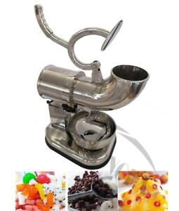 110V Commercial Stainless Steel Electric Snow Cone Machine Ice Shaver Crusher Maker 152003