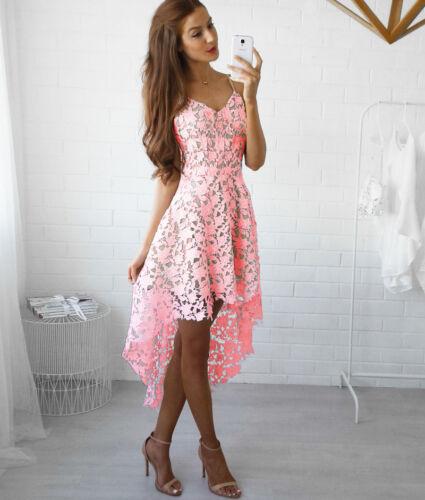 Summer Women's Lace Crochet Sleeveless Evening Cocktail Party Short Mini Dress