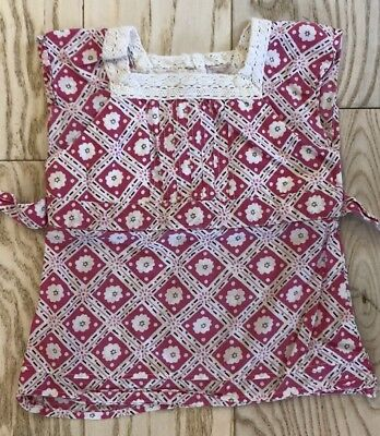 Old Navy Girls Pink And White Print Cotton Shirt, Size 18-24 Mons EUC image