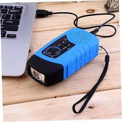 Kurbelradio AM FM Taschenlampe Solarradio USB MP3 tragbar Wasserdicht Powerbank Tragbare Wasserdicht Mp3