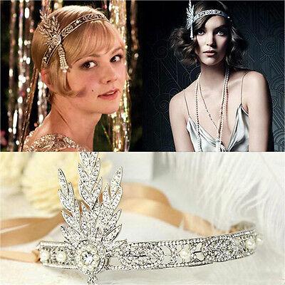 The Great Gatsby Headband Hat 1920S Hair Cap Silver Ivory Daisy Vintage Flapper