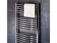 1500mm x 600mm curved towel radiator new in box