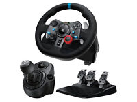 Logitech G29 Wheel Pedals and Shifter Set Brand New Sealed Box UK Stock Suitable For PS4 and PC