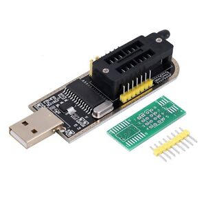 25 SPI Series 24 EEPROM CH341A BIOS Writer Routing LCD Flash USB Programmer BM