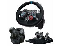 Logitech G29 Racing Wheel With Racing Stand + Pedal + Logitech Force Shifter For PC and PS4