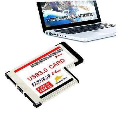 Express Card Expresscard 54mm to USB 3.0x2 Port Adapter QN