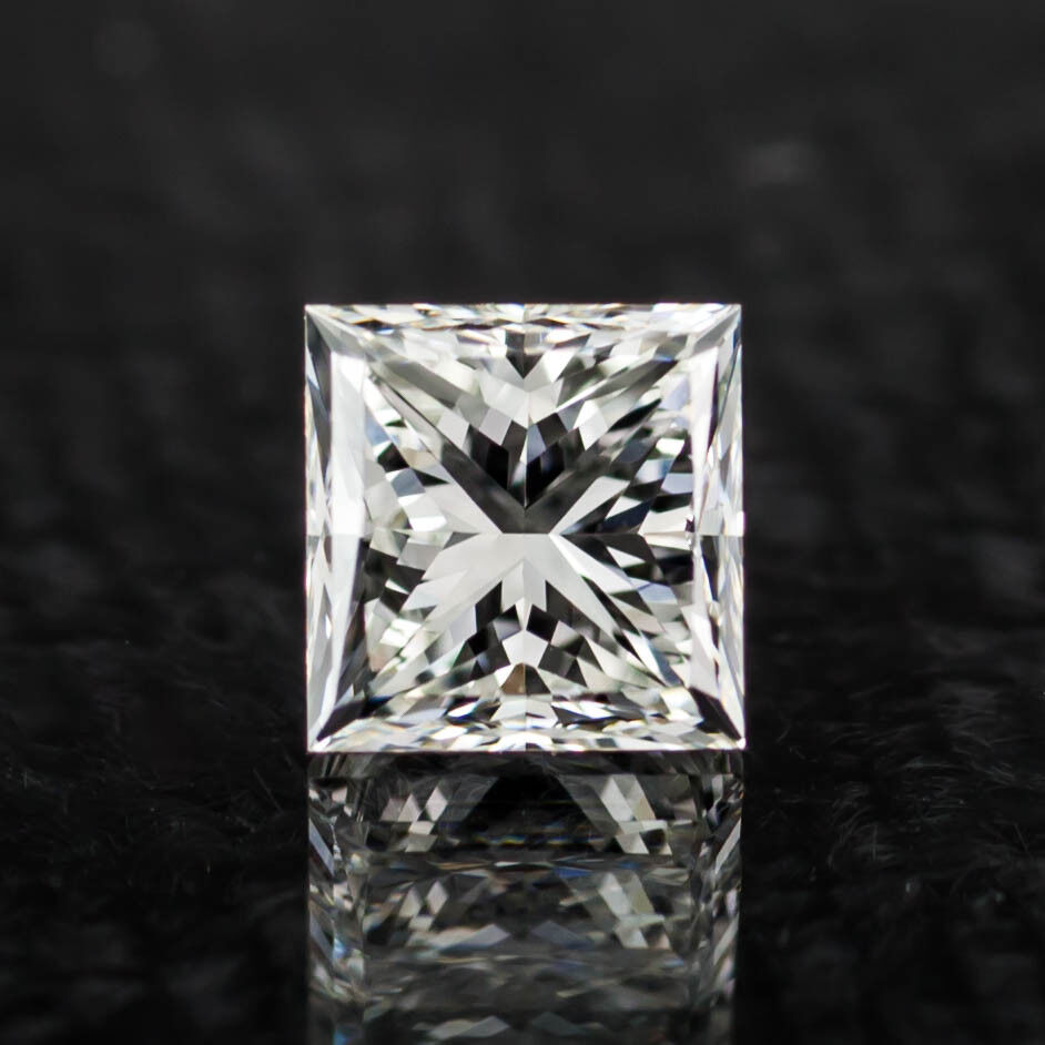0.91 Carat Loose H  / VVS2 Princess Cut Diamond GIA Certified