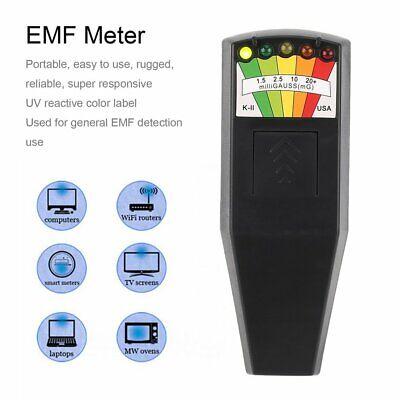 KII EMF Meter Magnetic Ghost Hunting Paranormal Equipment Field Detector 5 LEDRC