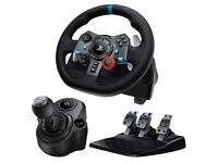 PlaySeat Evolution White with Logitech G29 Ps4 pro steering wheel controller with gear shifter