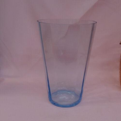 "FOSTORIA ""FAIRFAX"" Azure Blue Flip Vase 8"""