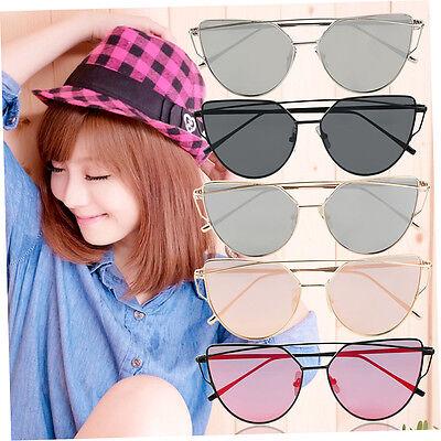 Retro Sexy Women Rx Frame Fashion Clear Lens Eye Twin-Beams Sun Glasses du
