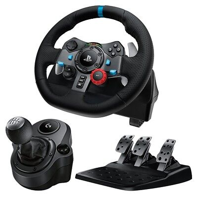 Logitech G29 Driving Force Race Wheel + Logitech G Driving Force Shifter Bundle Logitech Driving Force Gt Wheel