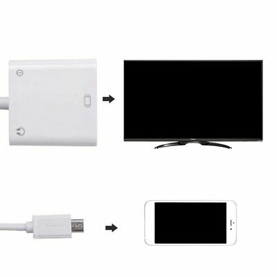 Micro USB To VGA Video To Audio Adapter Converter Mobile Phone TV Connecti W Audio Converter Mobile