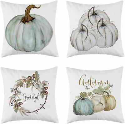 Set Of 4 December Fall Pillow Covers Pumpkin Pillowcases For Couch 18 X18inch
