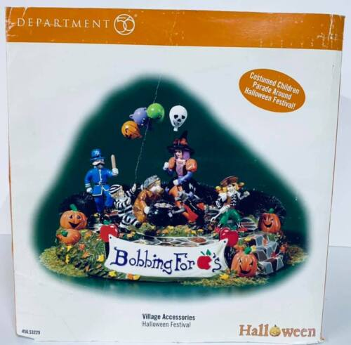 Dept 56 Halloween Festival Animated (Bobbing For Apples) #53229  Working In Box