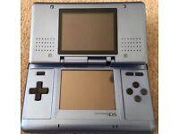 Nintendo DS Blue - working but broken hinge
