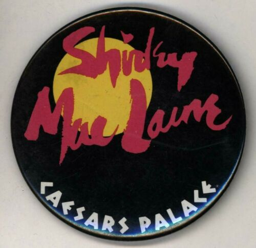 "1980s  Shirley MacLaine Caesars Palace  3"" Pinback Button"